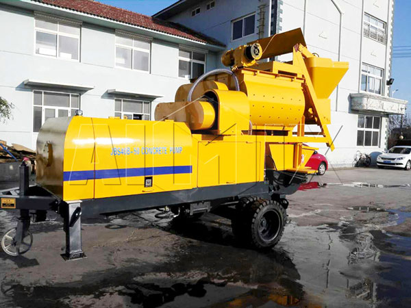 ABJS40D-JS500 electric compulsory concrete mixer pump