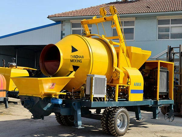 ABJZ30C portable diesel concrete mixer pump