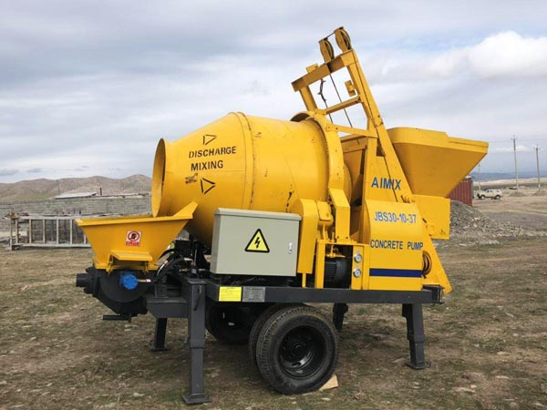ABJZ30D electric concrete mixing pump