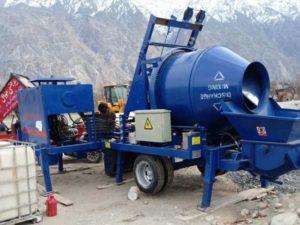 ABJZ40C diesel portable concrete pump mixer