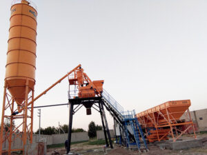 AJ35 Batching Plant in Uzbekistan