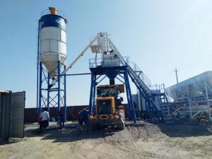 AJ35 Concrete Batching Plant in Uzbekistan