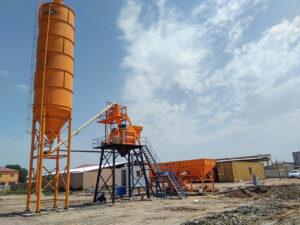 AJ50 Concrete Batching Plant in Uzbekistan