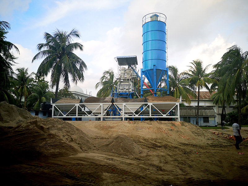 AJ50 batching plant install in Bangladesh