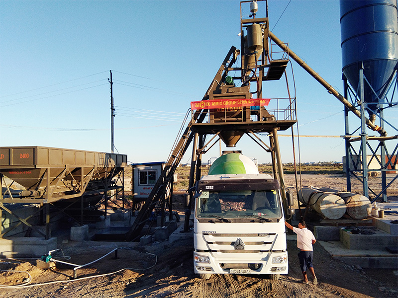 AJ75 Batch Plant in Uzbekistan
