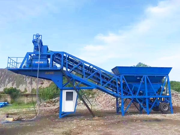 AJY-35 mobile ready mix plant Philippines