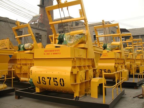 JS750 twin shaft batch mixer