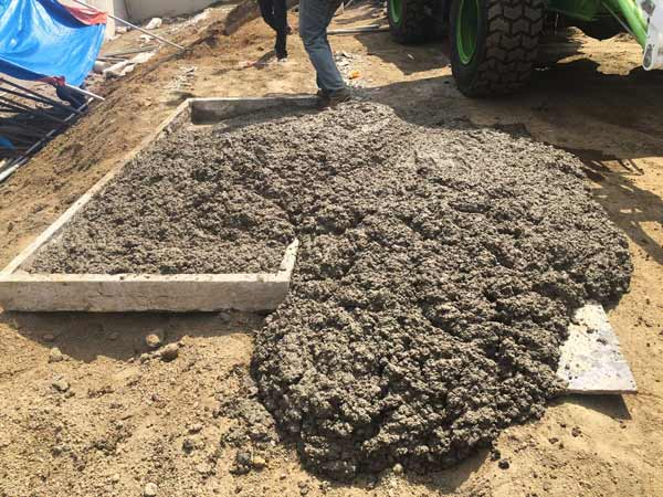 concrete produced by self mixer