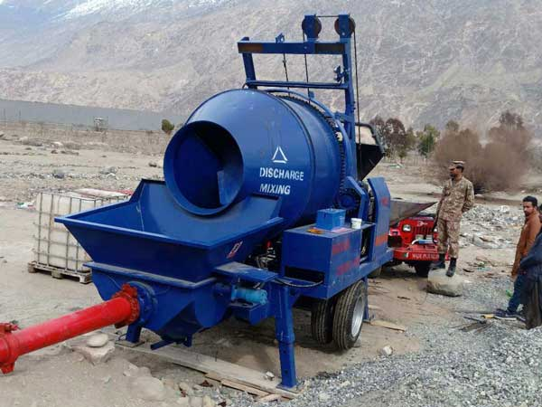 diesel engine concrete mixer with pump