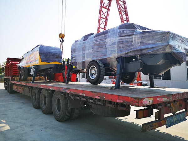 electric concrete pump delivery