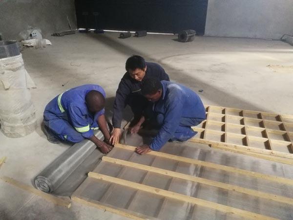 install mortar plant