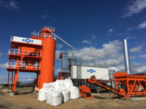 80T Stationary Asphalt Mixing Plant In Russia