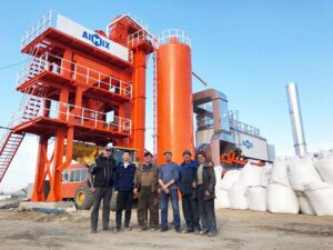 80T Stationary Asphalt Plant In Russia