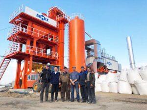 โรงงานผลิตยางมะตอยแบบคงที่ 80T ในรัสเซีย