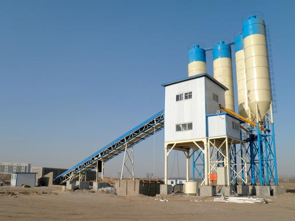 AJ-120 belt conveyor batching plant