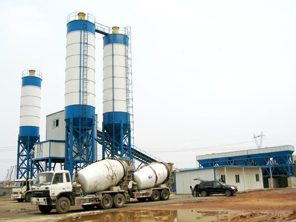 AJ-180 belt type concrete plant