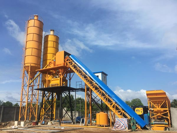 AJ-60 belt concrete batching plant
