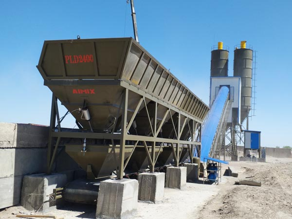 AJ-90 belt type concrete batching plant