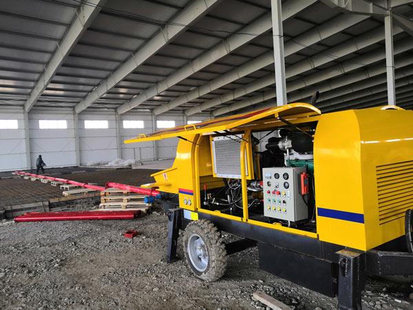 ABT40C portable concrete pump Uzbekistan