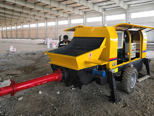 ABT40C portable-concrete pump in Uzbekistan
