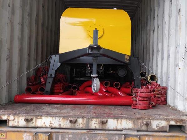 ABT40D concrete pump Uzbekistan