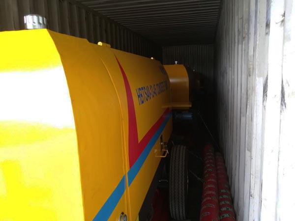 ABT40D concrete pump to Uzbekistan
