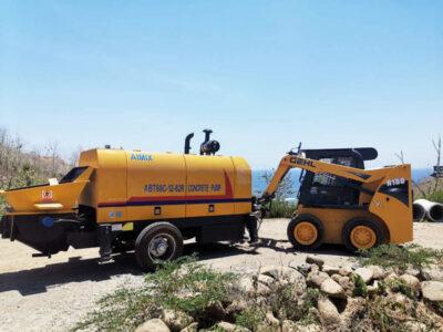 ABT60C diesel concrete pump Indonesia