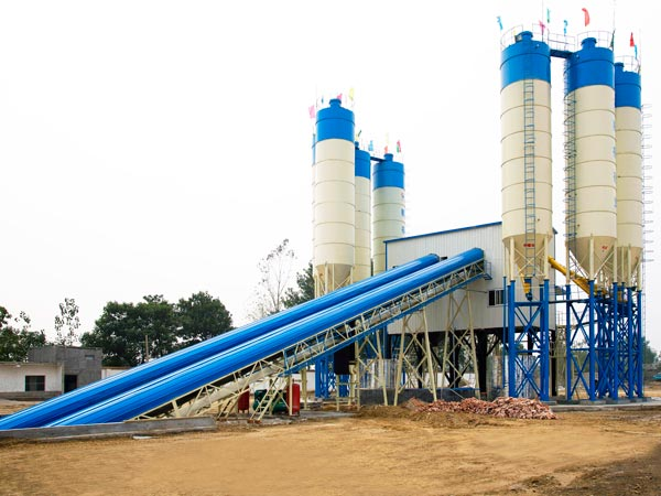 AJ-180 stationary concrete batching plant