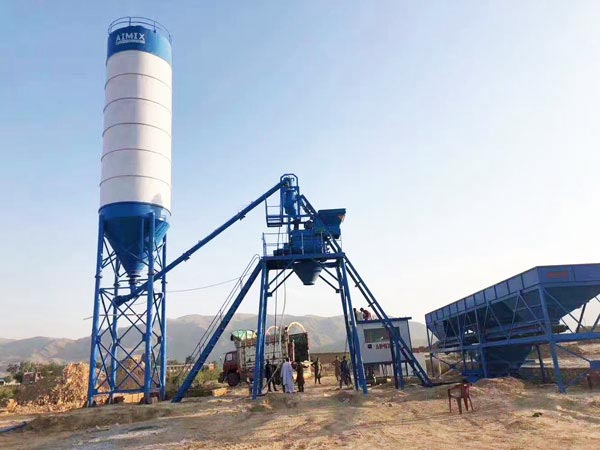 AJ-25 small concrete plant for sale