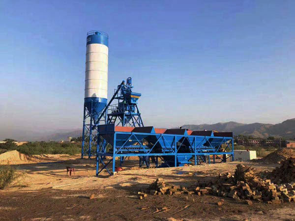 AJ-25 stationary batching plant in Pakistan