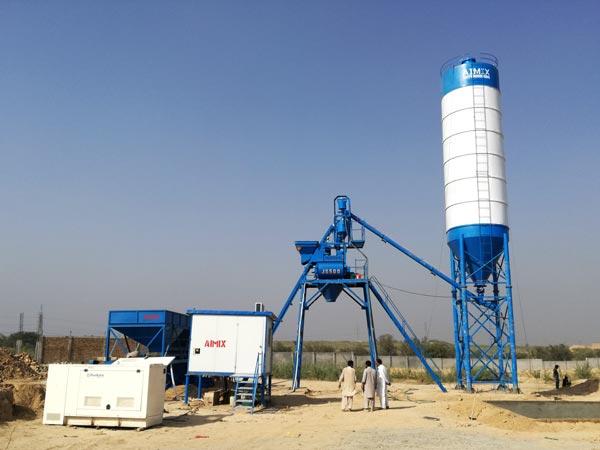 AJ-25 stationary concrete batch plant