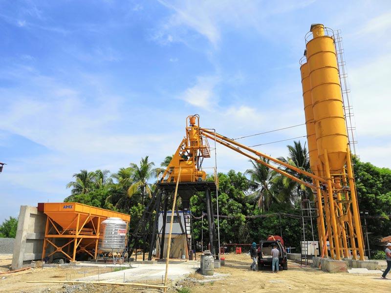 AJ-35 tremonha de concreto planta Filipinas