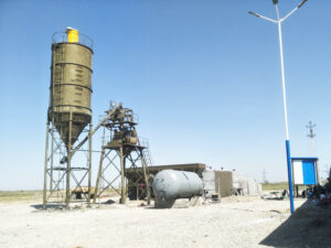 AJ-35 stationary batching plant in-Uzbekistan