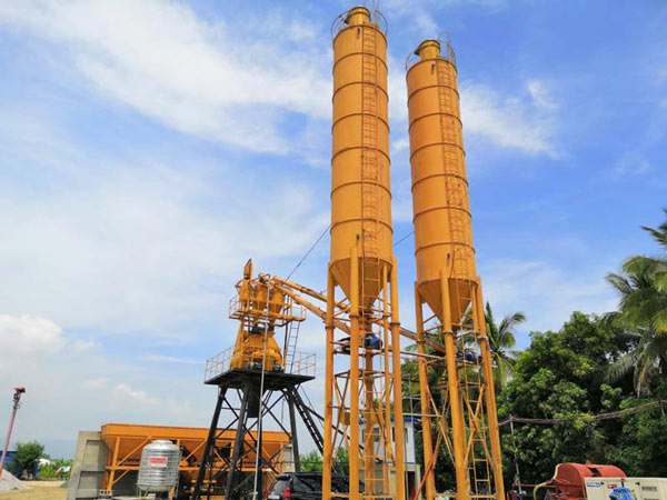 AJ-35 stationary concrete batching plant