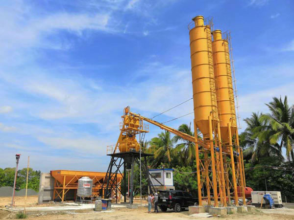 AJ-35 stationary concrete batching plant in Philippines