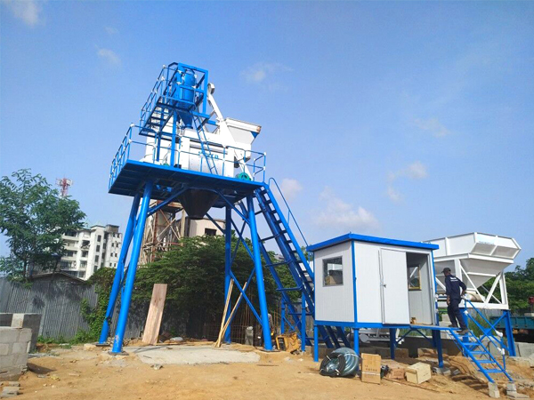 AJ-50 batching plant in Sri Lanka