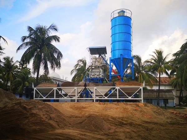 AJ-50 concrete batch plant Bangladesh