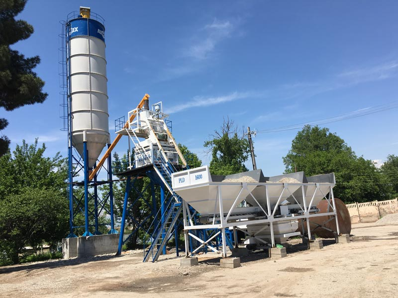 AJ-50 skip hoist concrete plant Tajikistan