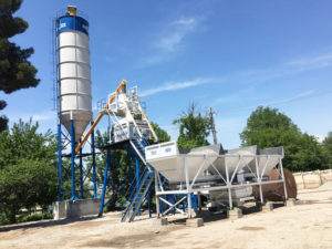 AJ-50 stationary concrete batching plant Tajikistan