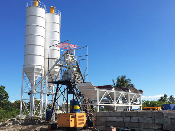 AJ-50 stationary concretebatching plant in Philippines