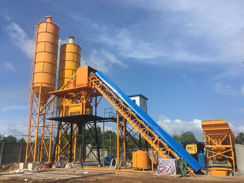 AJ-60 stationary batching plant in Sri Lanka