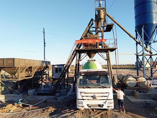 AJ-75 concrete plant in Uzbekistan