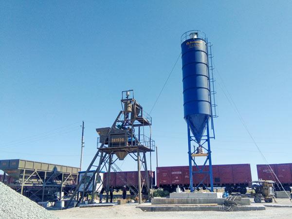 AJ-75 stationary concrete plant Uzbekistan