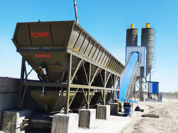 AJ-90 stationary concrete plant in Uzbekistan