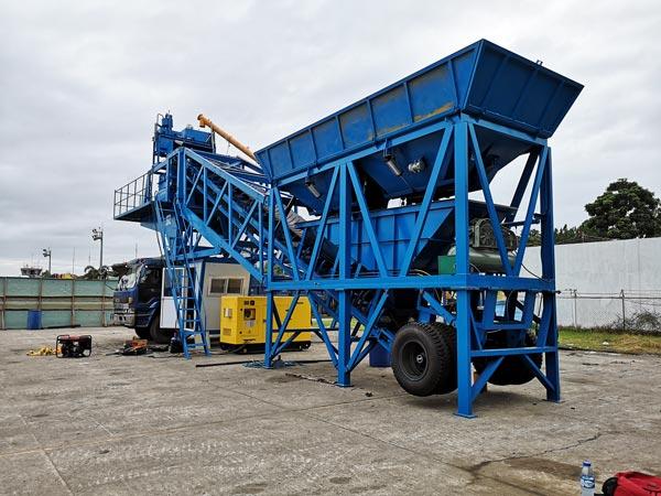 AJY-35 mobile concrete batch plant