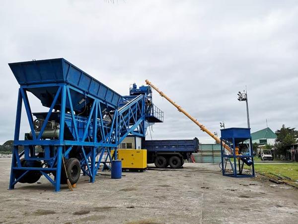 Central dosadora móvel de concreto AJY-35