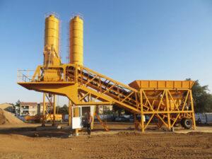 AJY-35 mobile mini concrete plant