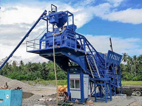Planta móvel de concreto AJY-60 nas Filipinas
