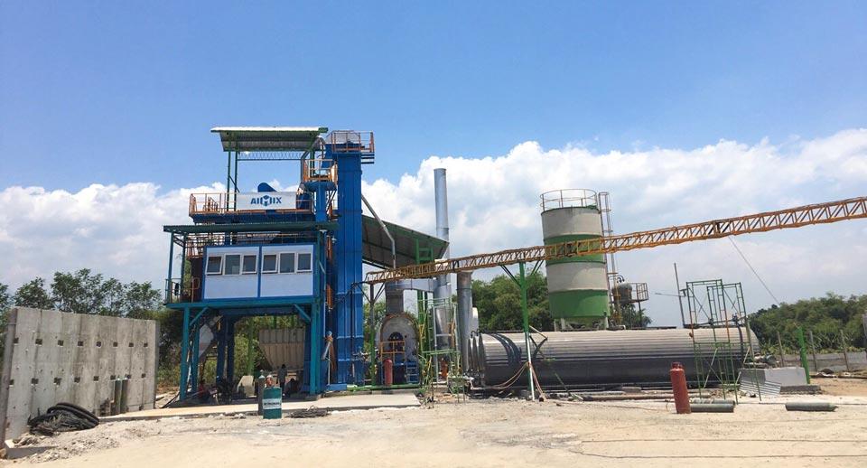ALQ100 asphalt plant equipment Indonesia