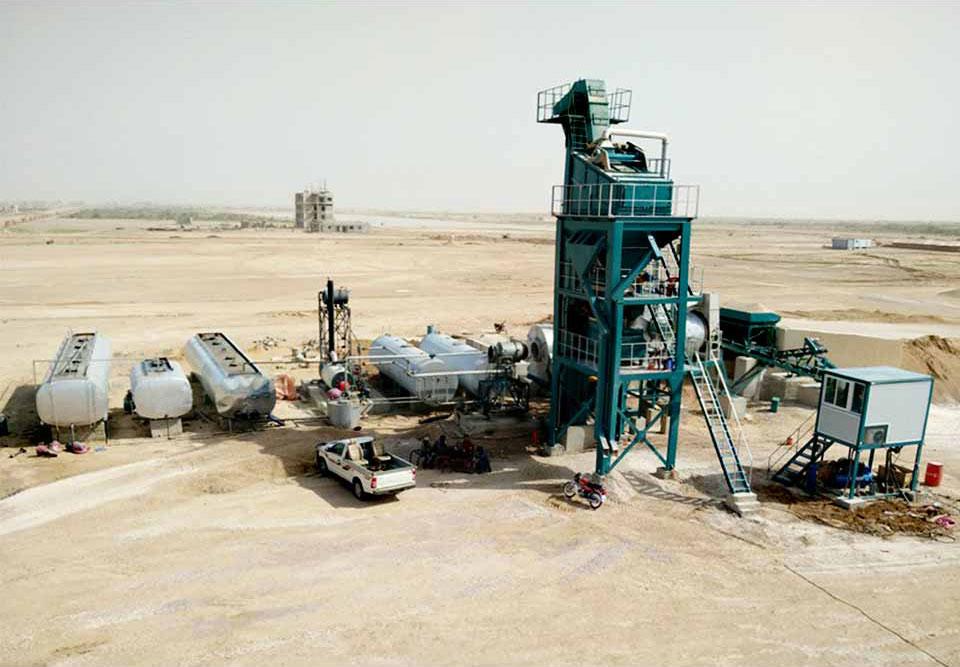 ALQ120 asphalt production plant in Pakistan